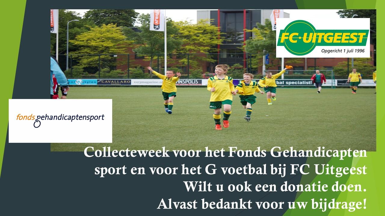 Collecteweek voor het Fonds Gehandicaptensport en voor het G voetbal bij FC Uitgeest