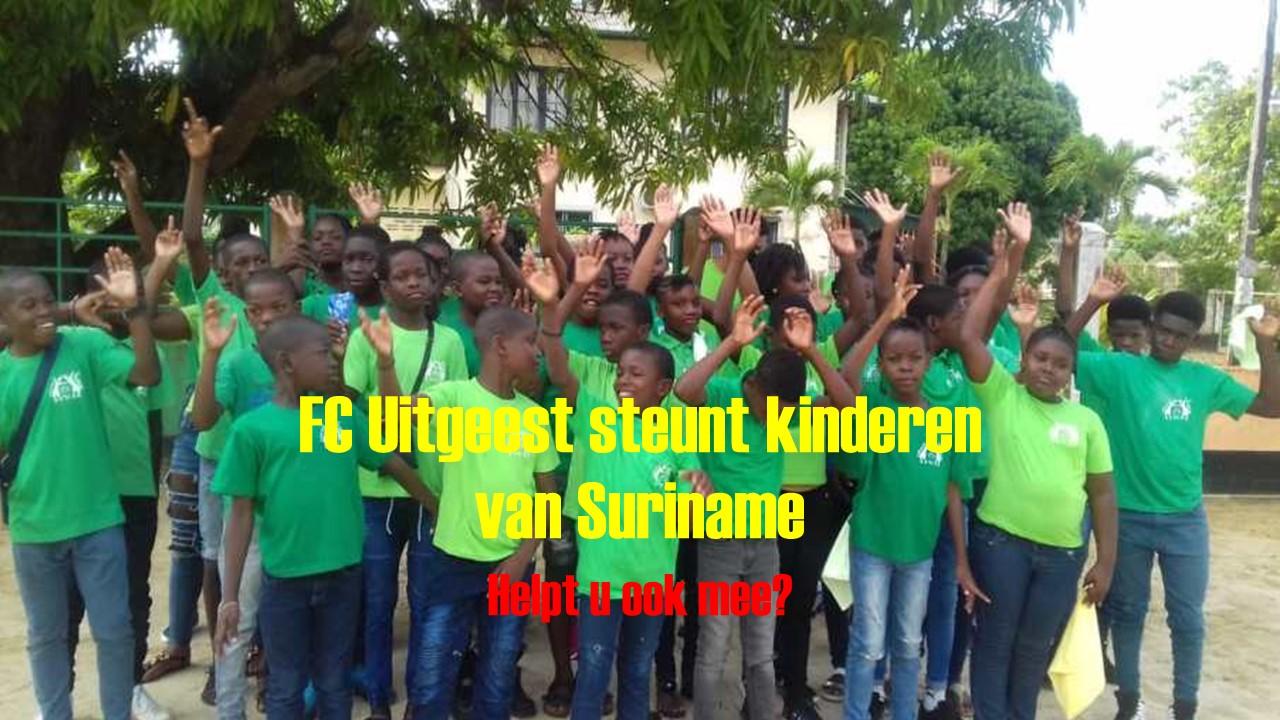 FC Uitgeest steunt Stichting Sranan Koters of wel Kinderen van Suriname….
