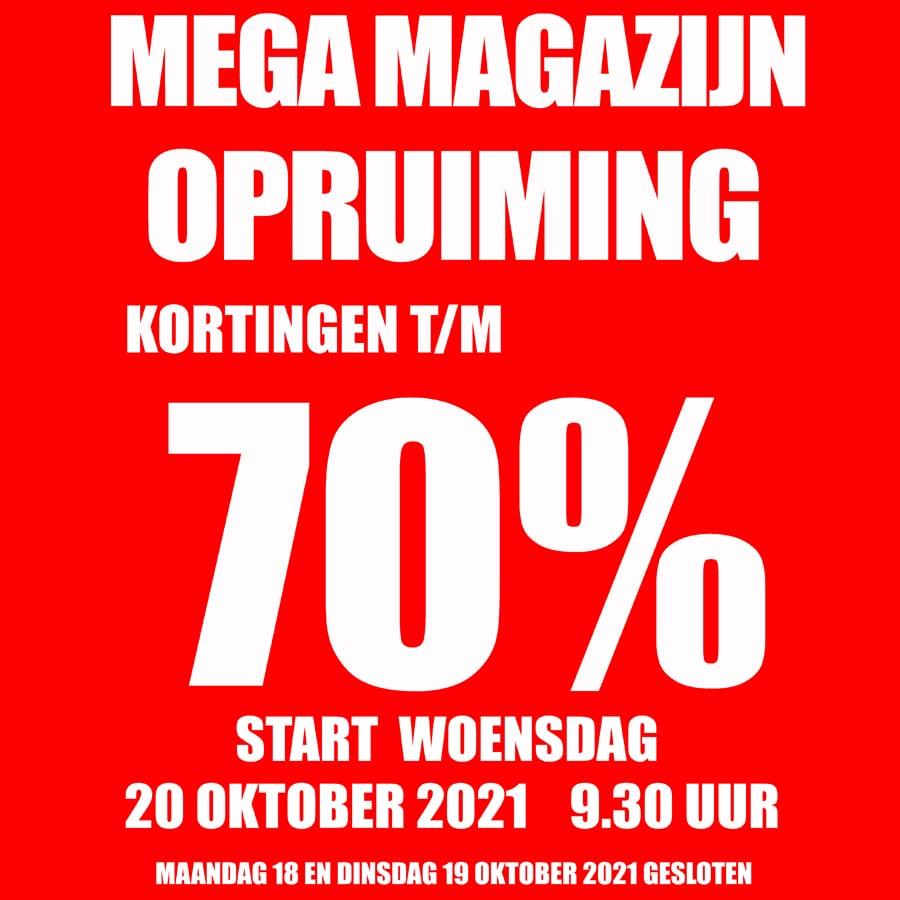 Bij Intersport Veldhuis in Beverwijk vanaf 20 oktober een MEGA MAGAZIJN OPRUIMING