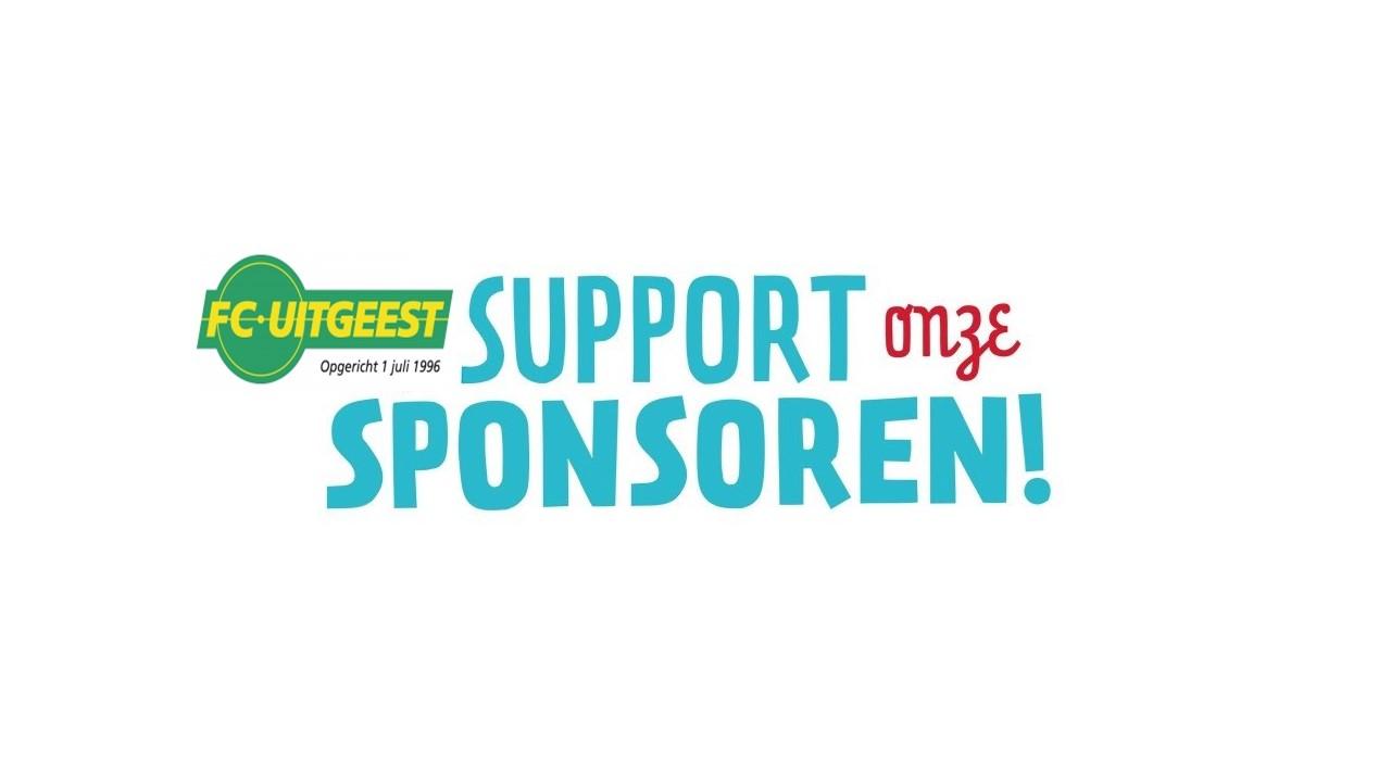 SUPPORT ONZE SPONSORS!