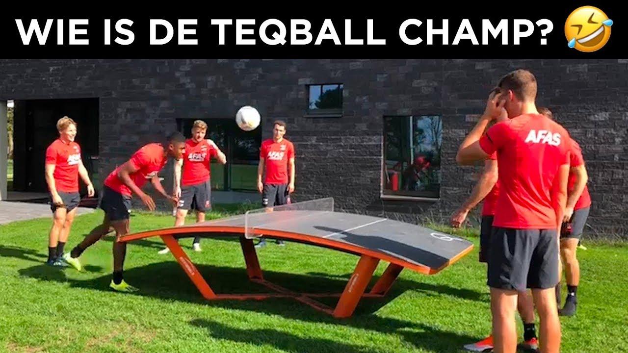 Onthulling Teqballtafel op het sportpark van FC Uitgeest